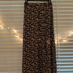 Abercrombie & Fitch Gray Floral Maxi Skirt